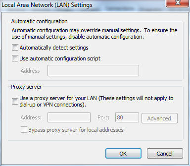 Cannot access Web GUI Before configuring your wireless router, do the steps described in this section for your host computer and network clients. A. Disable the proxy server, if enabled. Windows 7 1.