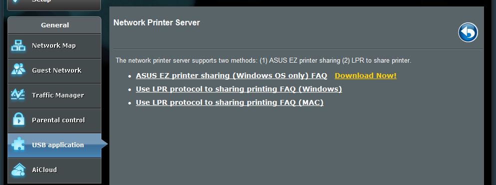 NOTE: The print server function is supported on Windows XP, Windows Vista, and Windows 7. To set up the EZ Printer sharing mode: 1.