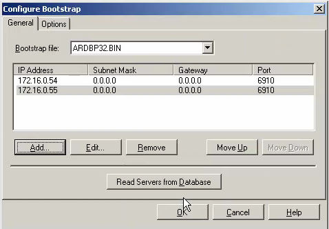 NetScaler, upon receiving the request, forwards the request to the appropriate TFTP server. BootStrap The TFTP service delivers the bootstrap file to the client. The bootstrap file (ARDBP32.