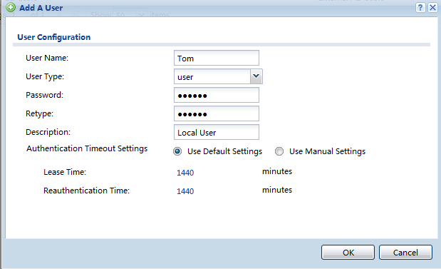 ZLD configuration Step 1. Create two local user accounts for Tom and Chris on USG50.