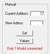 During the manually addressing (Manual Mode), the next address will be started, if the last addressing was successful.