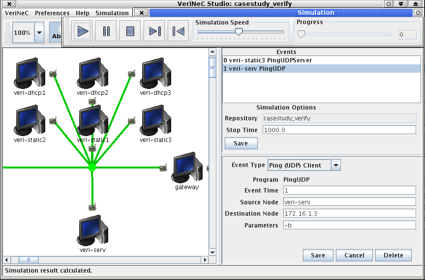 9.5. ADAPTATION 123 The input events can be saved to a file and restored later using the first couple of entries in the Simulation menu. The current network name is saved with the events.