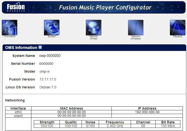 Chapter 6 Ovation Wireless Player Setup When configuring your wireless network you will need to fill in the SSID, Security and KeyPass information for your network. 1.