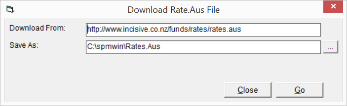 Downloading the latest Rates.Aus file 1. You need to have logged into SPM using a login with Administrator/Practice Manager rights. If not the Rates button will be disabled. 2.