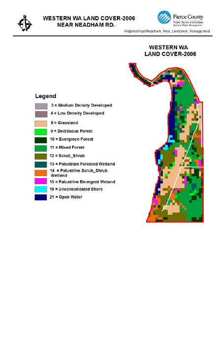 Figure 21: Land Cover in Neadham Road Source: Pierce County Return on