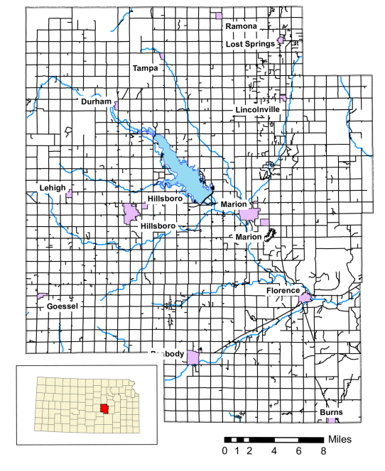 Marion Reservoir, located on the Cottonwood River in Marion County, Kansas, is a multipurpose reservoir with authorizations for flood control, water quality control, recreation, and water supply.