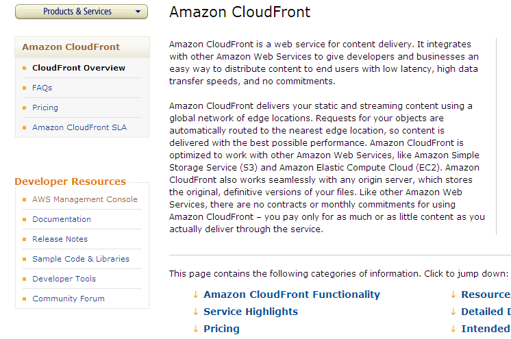Amazon CloudFront Source: