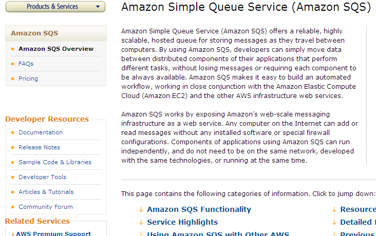 Amazon Simple Queue Service (Amazon