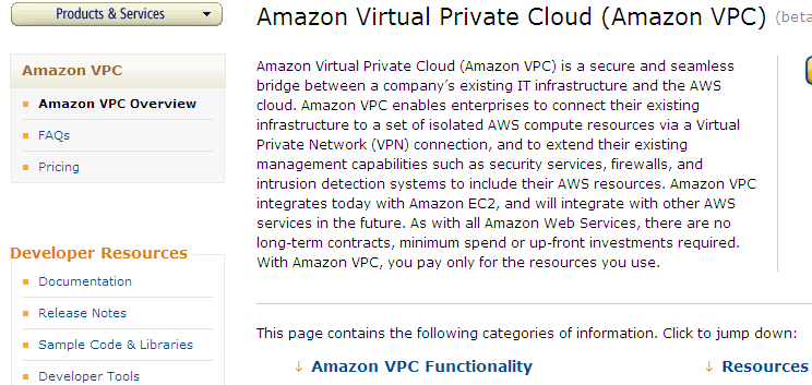 Amazon Virtual Private Cloud