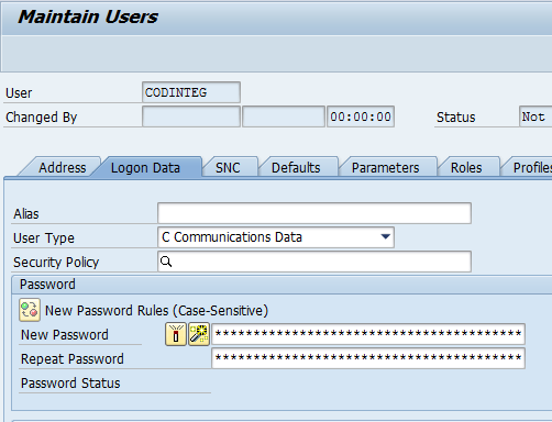 How to Configure Integration between SAP CRM and SAP Cloud for Customer using SAP PI 16 2.3 Create SAP CRM User 1.