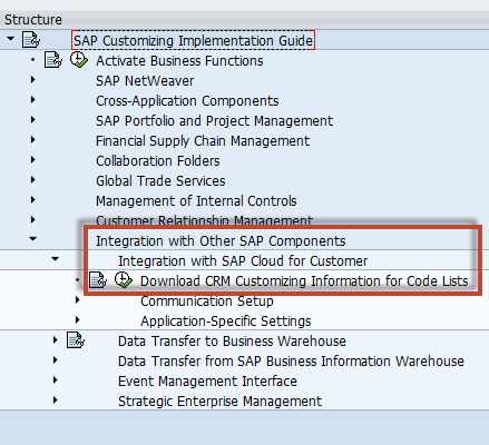How to Configure Integration between SAP CRM and SAP Cloud for Customer using SAP Process Integration 20 8. Open the transaction SE38 and run the report CRMPCD_CUST_EXCHANGE. 9. Choose Execute. 10.