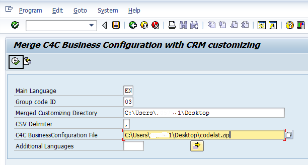 How to Configure Integration between SAP CRM and SAP Cloud for Customer using SAP Process Integration 21 Merged Customizing directory is where you want the merged code list mappings filled.