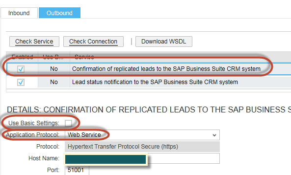 How to Configure Integration between SAP CRM and SAP Cloud for Customer using SAP Process Integration 29 Note: For the Lead Replication From External System, the outbound services use two different