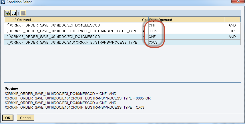 How to Configure Integration between SAP CRM and SAP Cloud for Customer using SAP Process Integration 62 14. Follow the previous step to add the other expressions 15.