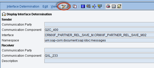 How to Configure Integration between SAP CRM and SAP Cloud for Customer using SAP Process Integration 64 7.7 Adjust Routing Conditions Interface CRMXIF_PARTNER_REL_SAVE_M.
