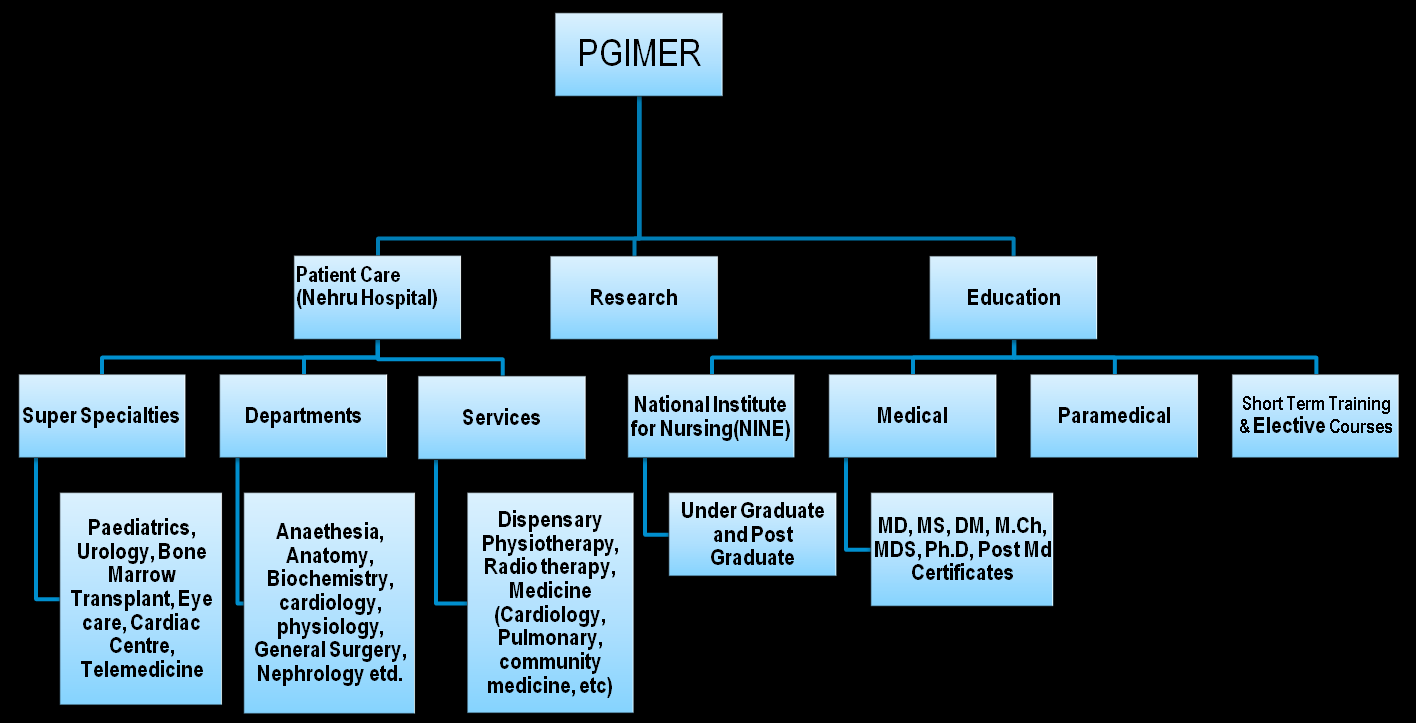 Figure 8-17- Departments in PGIMER Source: PGIMER website, STC Analysis In addition to the departments above, the institute has a dedicated Community Medicine & School of Public Health.