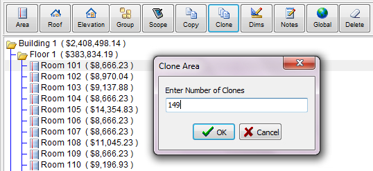 Clones, Groups, Macros and Copy Speed Repetition is a thing of the past, with multiple ways to build a large estimate with speed tools HERE IS A SCENARIO: You have to write an estimate for a