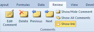 Adding cell comments New Comment Ribbon Existing Comment Ribbon You can add notes to a worksheet by using comments.