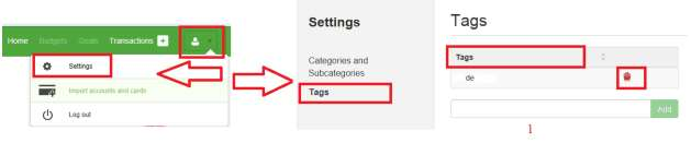 If you want to insert a new tag, then: 1. Name the new Tag Use the Add button 3.11.4.