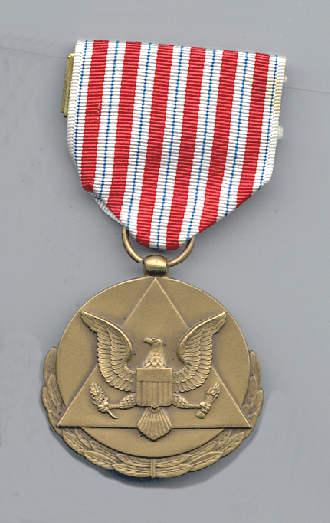Face of Civilian Service Medal of the Army awarded to Ralph Peck