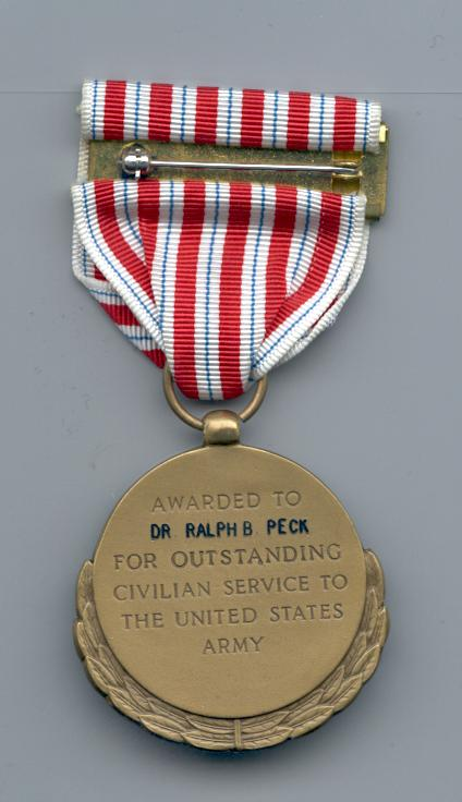 CITATION For noteworthy assistance to the Office, Chief of Engineers, as a consultant from July 1954 to December 1972.