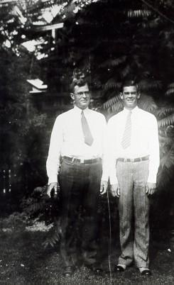 In his father s footsteps Orwin and Ralph Peck in the back yard of their Denver home, circa 1933. Orwin Peck was a graduate of Dakota Wesleyan (B.A.