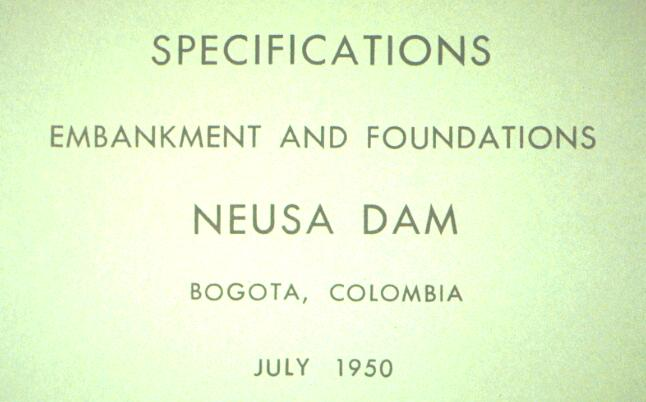 PECK S FIRST OVERSEAS JOB Peck s first international consultation and dam design was the 120-feet high Neusa Dam near Bogota, Columbia in January 1950, with his mentor Al