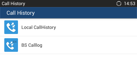CALL HISTORY GXV3240 Call history provides users access to phone's call logs in different categories.