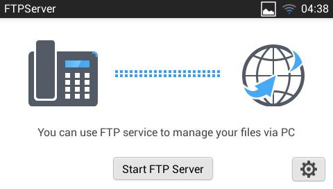 Note: Under the File Manager root directory, screensaver is a system folder that users could not create or delete files/folders there. FTP SERVER The GXV3240 supports file transfer via FTP server.
