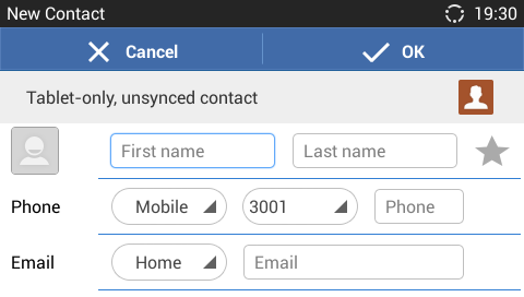 Figure 65: GXV3240 Contacts - Add New Contact IMPORT/EXPORT CONTACTS If the users have the GXV3240 phonebook file saved in local storage or external storage device that has been plugged into the