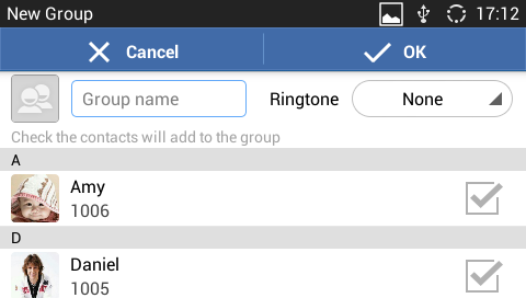 "SHARE CONTACTS VIA BLUETOOTH 1. Select the contact as described in [SELECT CONTACTS]. 2. Tap on and select ""Send""."