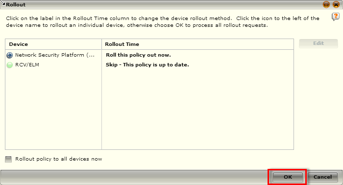Activate rule In order to activate the new rule, you need to enable it, and then roll out the policy to the receiver that will be parsing the logs.