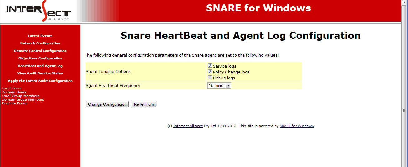 7. HeartBeat and Agent Log The agent can send out regular heartbeats, letting the collecting device know that the agent is working without having to make contact.