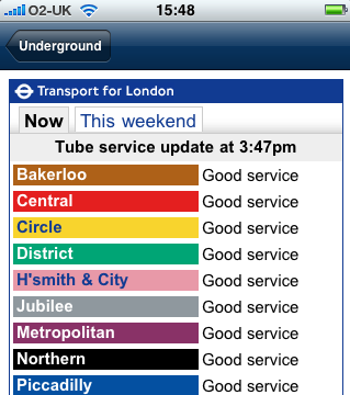 Background London Underground (LU) is reviewing the impact and effectiveness of language used to inform customers of problems on the system Design of the service update naming