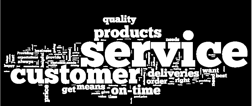 What is service excellence? Qu: What does the term service excellence mean to you? Top 10 1. Customer Service 2. On-time deliveries 3. Quality/range of products 4.