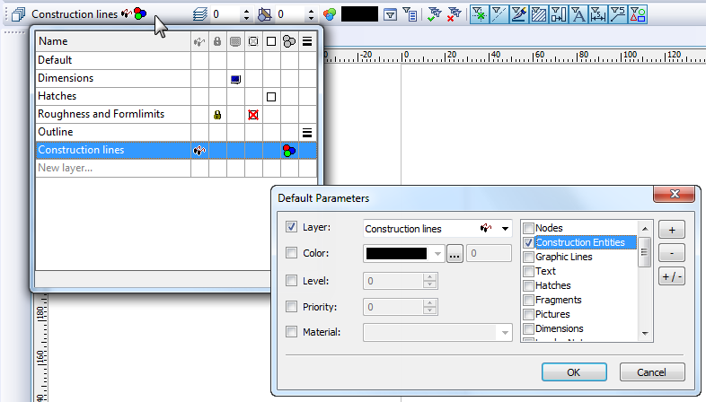 "Layers are now displayed in ""Information dialog for all system objects in the list of parent objects. Dialog control for layer selection in the system toolbar was improved."