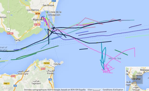 tankers in the Mediterranean sea P =