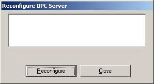 Manual OPC-Server Example of an OPC-project OPC-Server reconfiguration Select Tools > OPC-Server reconfiguration If you are connected to an OPC-Server that can access the controllers you invoke the