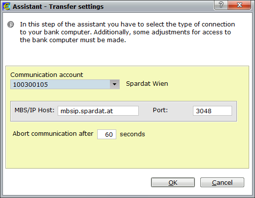 "1) Authorise communication: Fill in Communication account (Kommunikationsberechtigter) and the password. Click ""OK""."