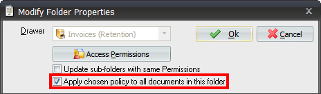 The Retention Feature in Document Manager 6.4.