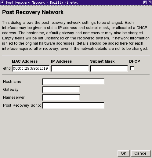 Performing a Recovery Your recovery settings can