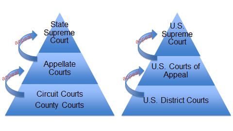State v. Federal: What is the Difference? Student Handout State Courts Outlined in Article V of the Florida Constitution Broad jurisdiction or power to hear certain cases.