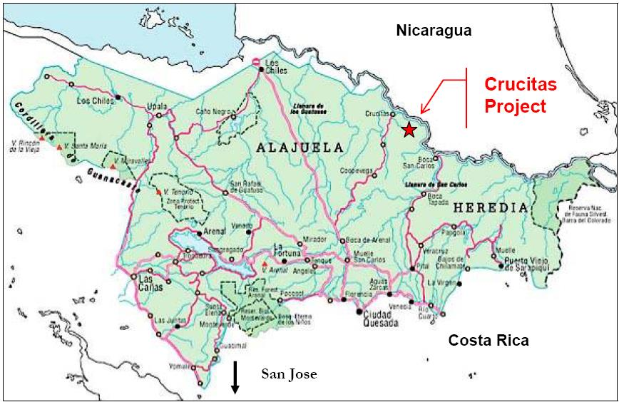 26) Figure 3: Regional map showing the Crucitas