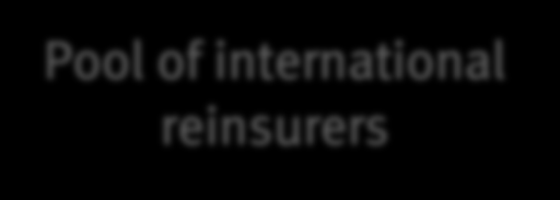 Key criteria of reinsurance program Russian Insurer Pool of international reinsurers REQUIREMENTS TO GET GUARANTEED INSURANCE COMPENSATION Insurance and reinsurance terms and conditions have to be