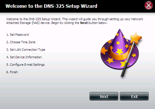 Setup Wizard (Web UI) The ShareCenter has a System Wizard that allows you to quickly configure some of the basic device settings.