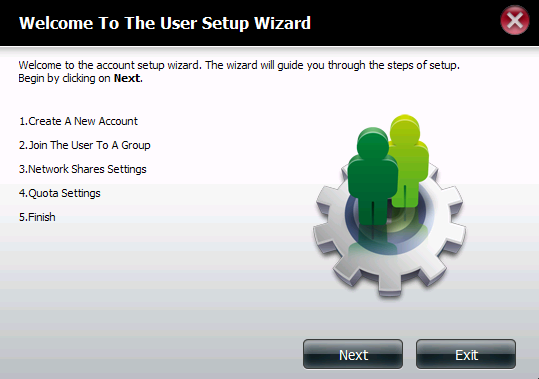 Adding New Users Wizard The following section will describe how to add a new user on this device. To add a user click on the New button.