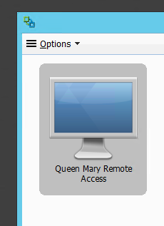 5. Select Queen Mary Remote Access and double