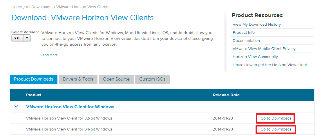 How to install the VMware View Client (Required once on each PC you use at home) 1.