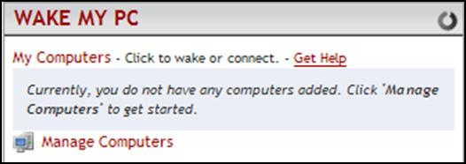 Configure the Wake My PC Widget in MyMarshall The steps in this section are performed within MyMarshall on any PC.