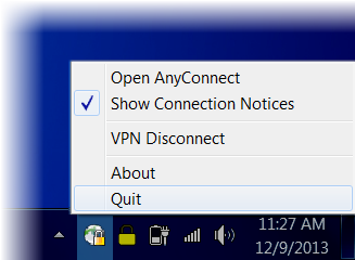 You are now connected to the Partners network. 5. Close the Partners Cisco Clean Access Install window. Tip! Each time you log in to VPN, the Cisco NAC Agent window will display.